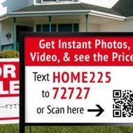 real estate signs showing SMS campaigns