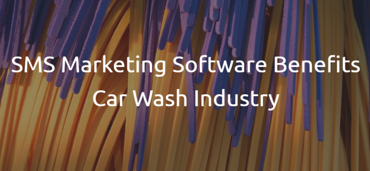 Car wash brushes with the title of the blog article: sms marketing software benefits car wash industry
