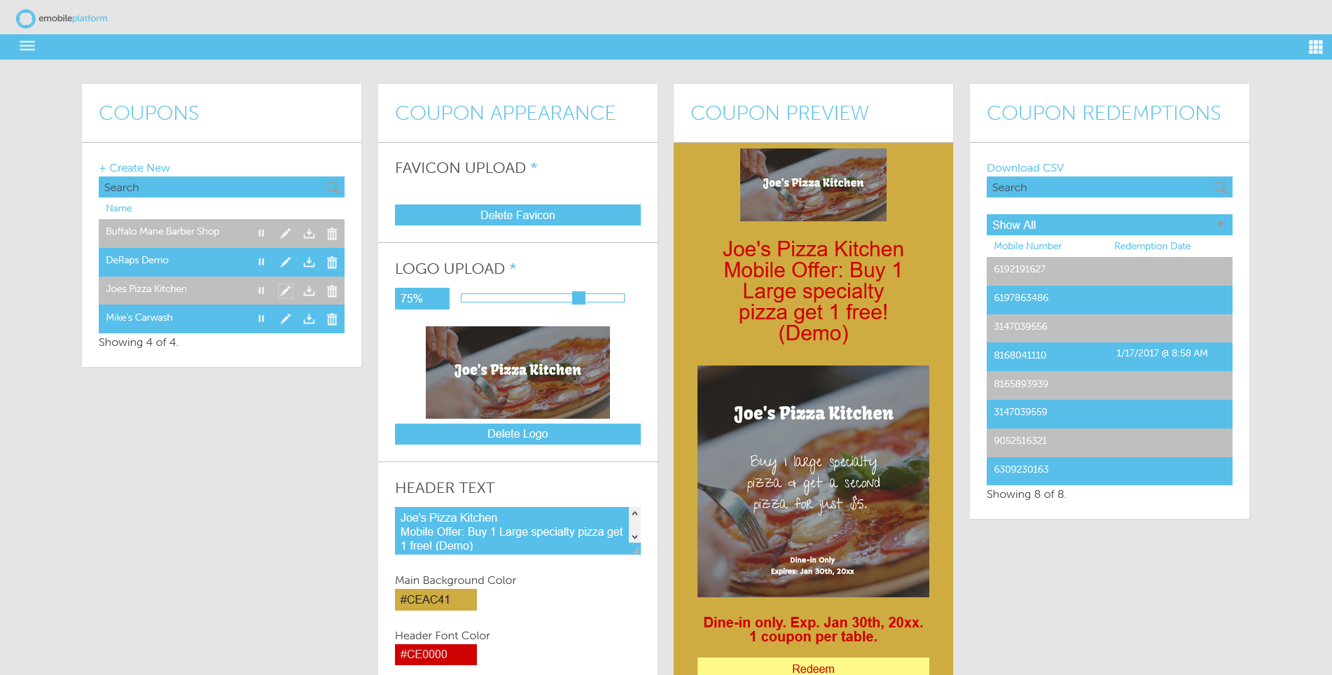 Building mobile coupons with the AvidMobile Mobile Marketing application
