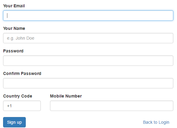 an example opt-in form for your website