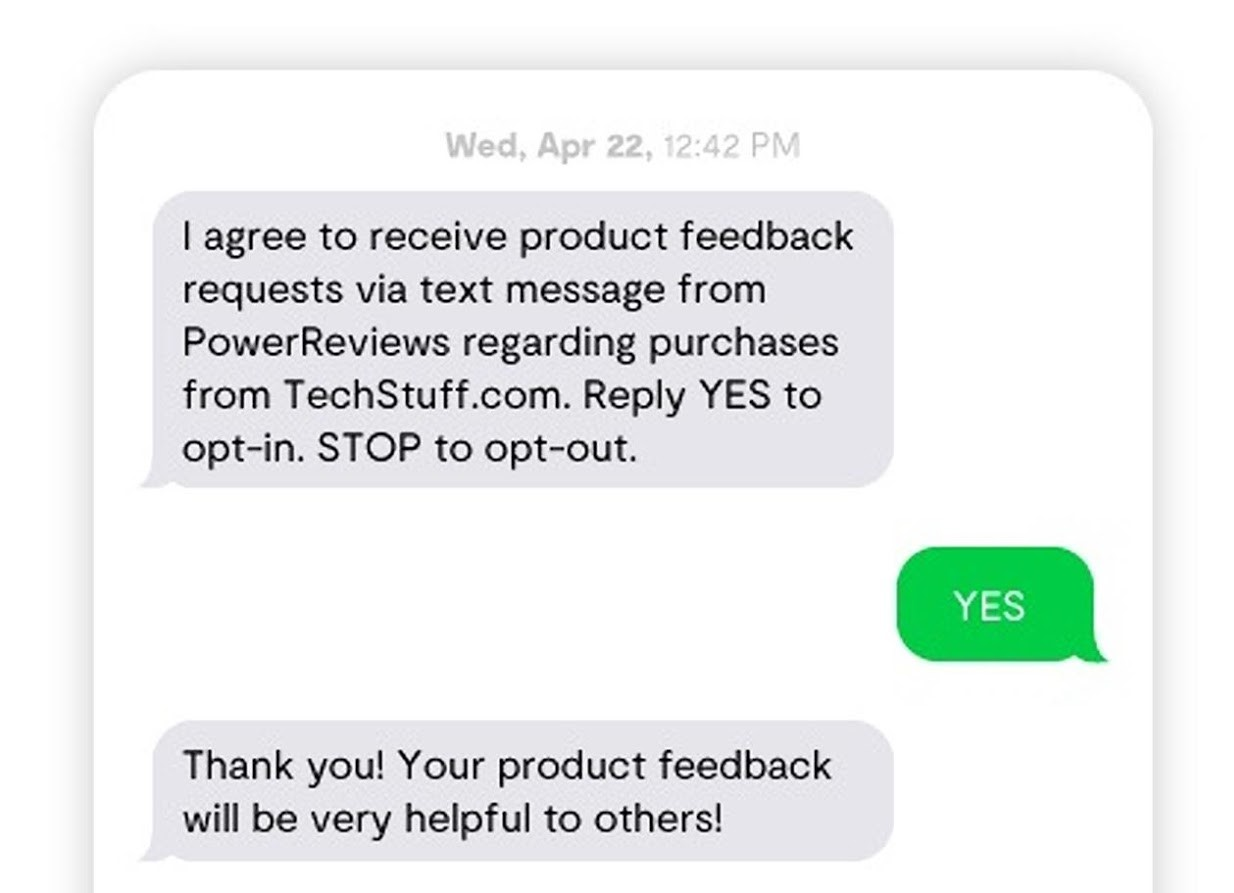 Customer consent in SMS marketing