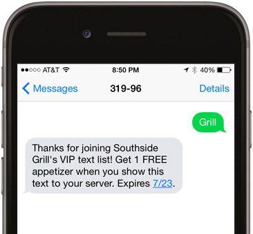 Keyword in SMS marketing