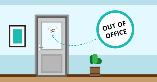 Out of office door sign